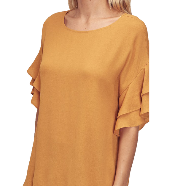 Honey Ruffle Sleeve Blouse - Hudson Square Boutique
