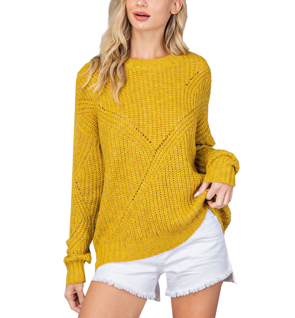 Marled Light Weight Knit Sweater