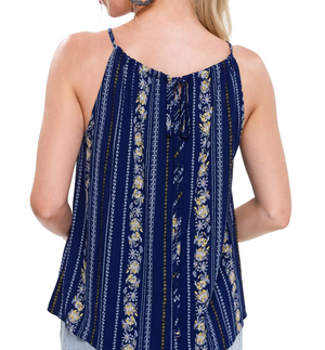 Wildflower Top in Navy - Hudson Square Boutique