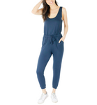 French Terry Jumpsuit in Navy