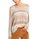 Cloud Striped Knit Top - Hudson Square Boutique