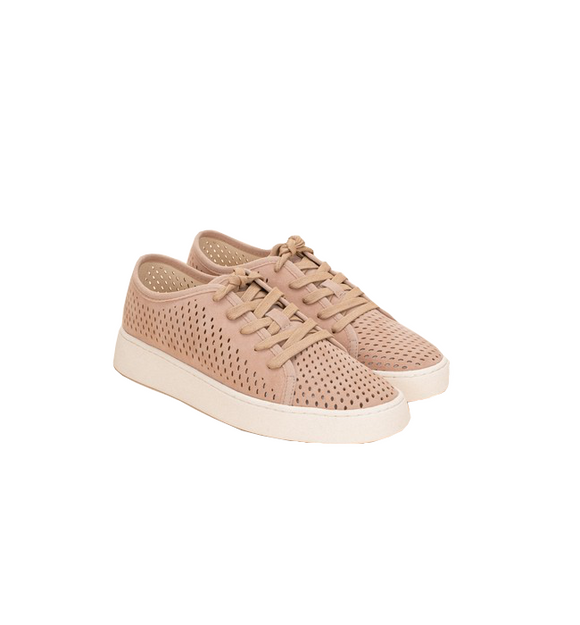 Dusty Rose Perforated Sneaker - Hudson Square Boutique LLC