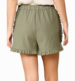 Sage Ruffle Hem Shorts - Hudson Square Boutique