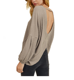 Waffle Knit with Low Back