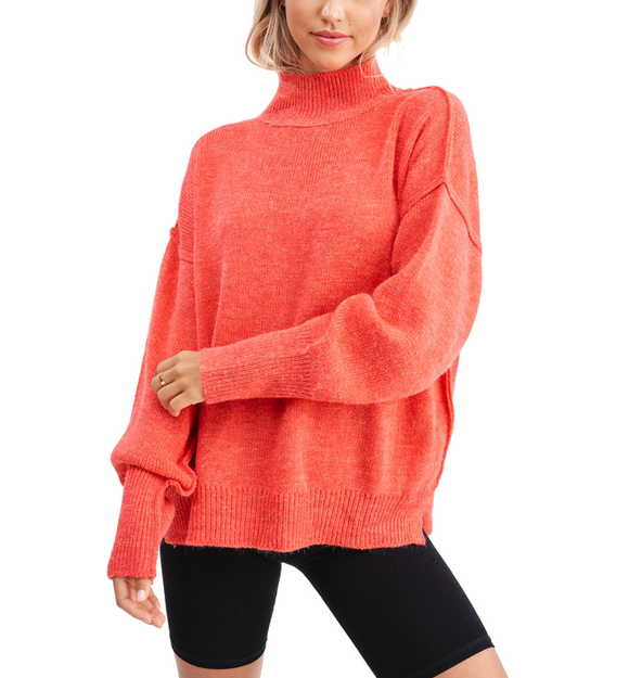 Luxy Dolman Sweater in Tomato