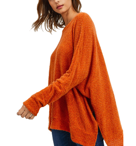 Chestnut Poncho Top