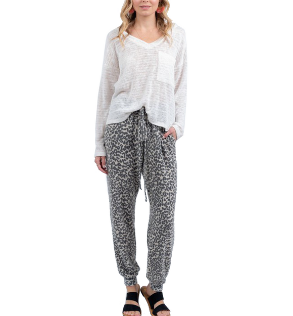 Printed Joggers - Hudson Square Boutique