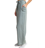 Dusty Sage Wide Leg Pants - Hudson Square Boutique