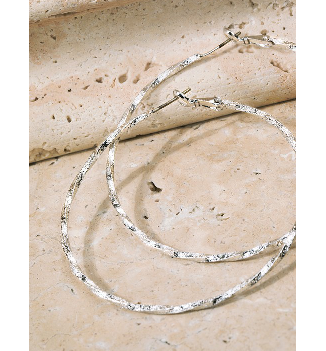 Twisted Silver Hoops