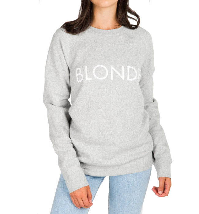 "BRUNETTE THE LABEL The ""BLONDE"" Crew Neck Sweatshirt 