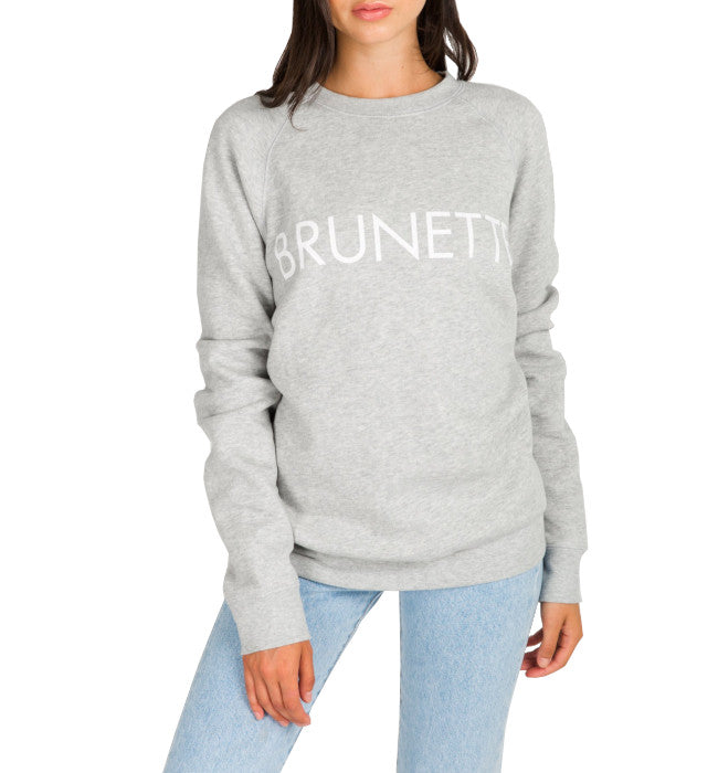 "BRUNETTE THE LABEL The ""BRUNETTE"" Crew Neck Sweatshirt 