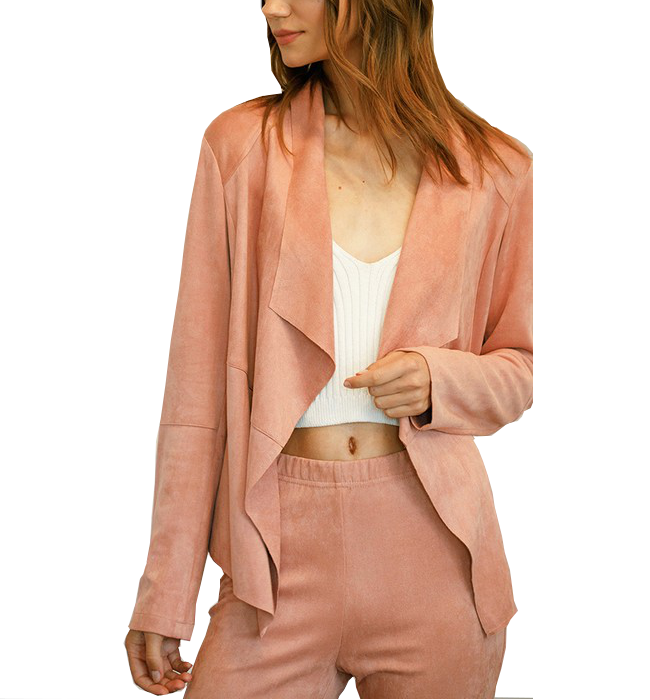 Blush Draped Jacket