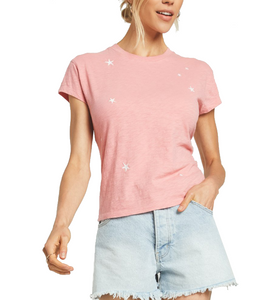 Modern Star Tee in Pink Sorbet - Hudson Square Boutique