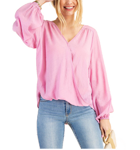 Pretty in Pink Blouse - Hudson Square Boutique LLC