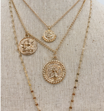 4 Layer Rose Gold Angel Necklace - Hudson Square Boutique