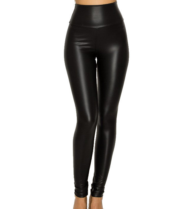 Vegan Leather Plus Size High Waisted Leggings - Hudson Square Boutique