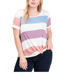 Spring Vibes Knotted Front Top - Hudson Square Boutique LLC