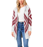 Fluffy Aztec Cardigan - Hudson Square Boutique