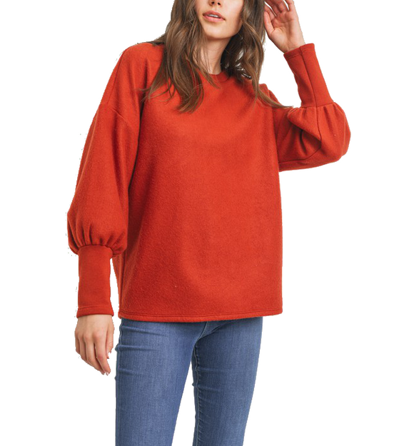 Brick Puff Sleeve Top