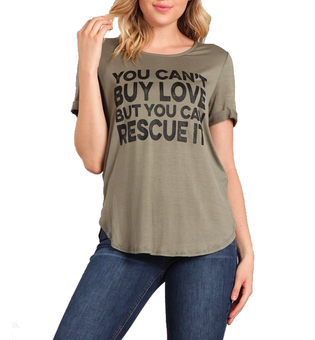 You Can't Buy Love Rescue Graphic Tee