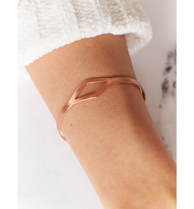 Copper Geometric Bracelet
