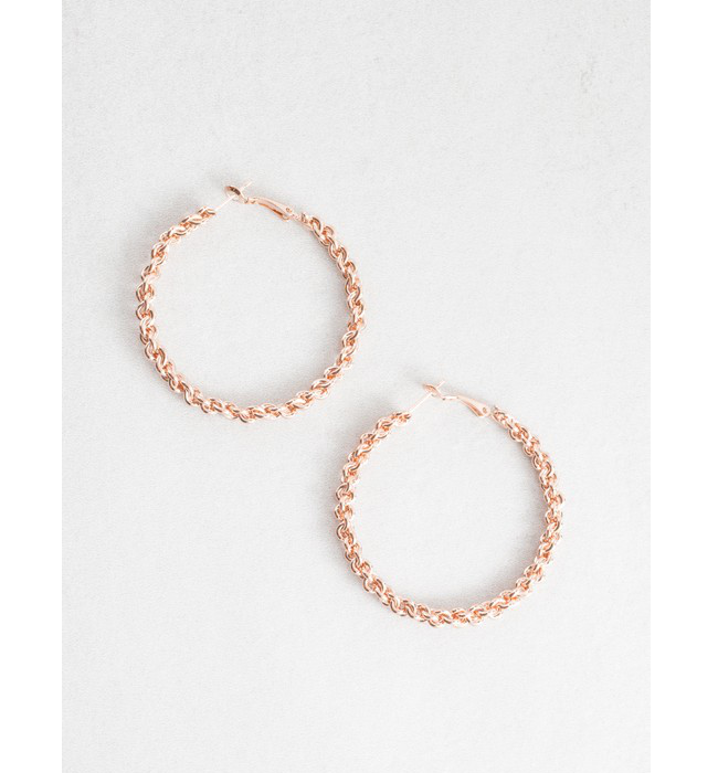 Rose Gold Braided Hoops