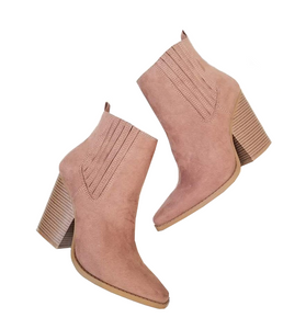 Mocha Suede Ankle Boots