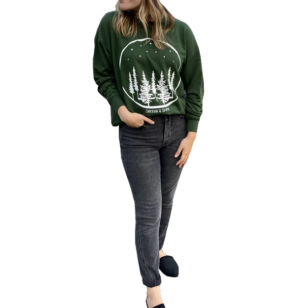 Upstate Nights Slouchy Sweatshirt - Hudson Square Boutique