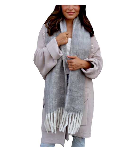 Super Soft Long Scarf with Fringe