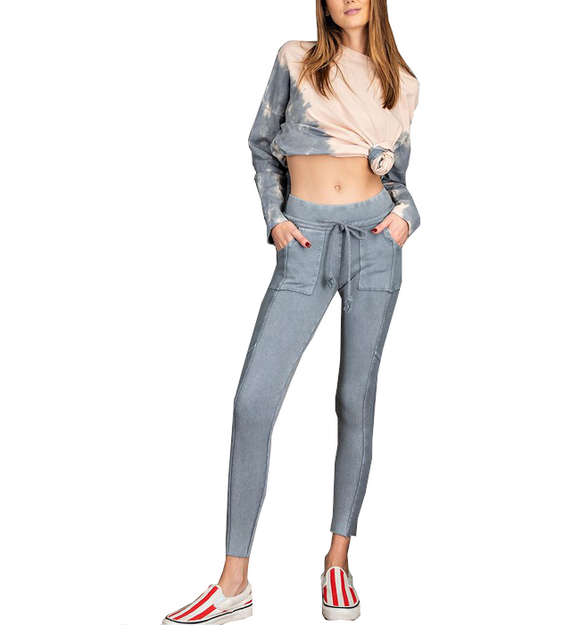 Washed Denim Lounge Pants - Hudson Square Boutique