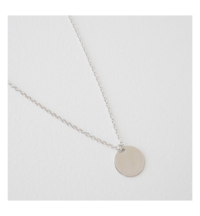 Hanging Sun Circle Disc Necklace - Hudson Square Boutique