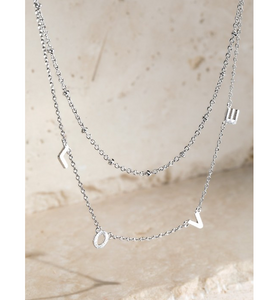 LOVE Layered Charm Necklace