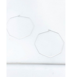 Hexagon Hoop Earrings - Hudson Square Boutique