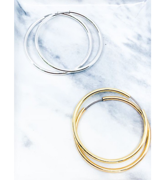 Small Classic Hoops - Hudson Square Boutique LLC