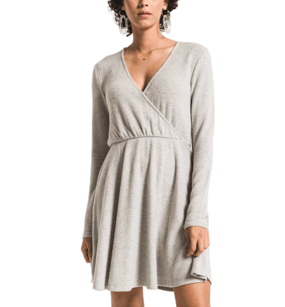 The Soft Spun Surplice Dress - Hudson Square Boutique