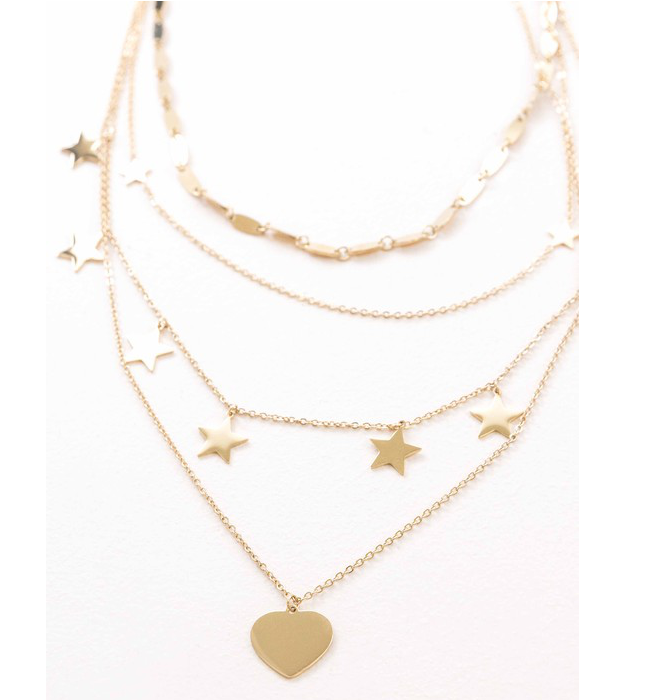 Gold Star Layered Necklace