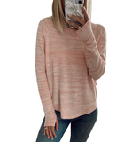 Streaky Thumbhole Pullover in Blush