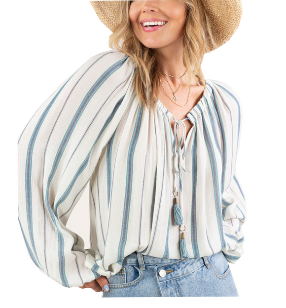 Striped Peasant Blouse