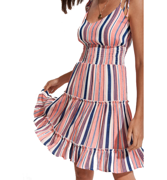 Dance With Me Striped Dress - Hudson Square Boutique