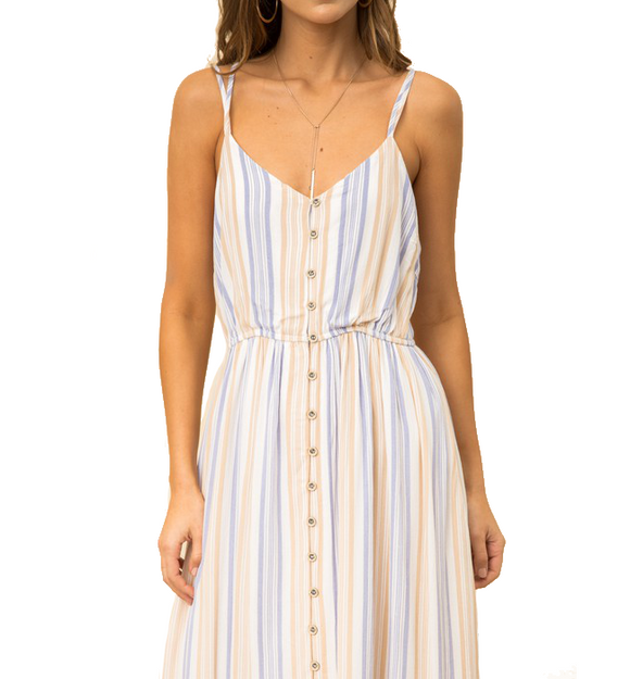 Midi Striped Cami Dress - Hudson Square Boutique