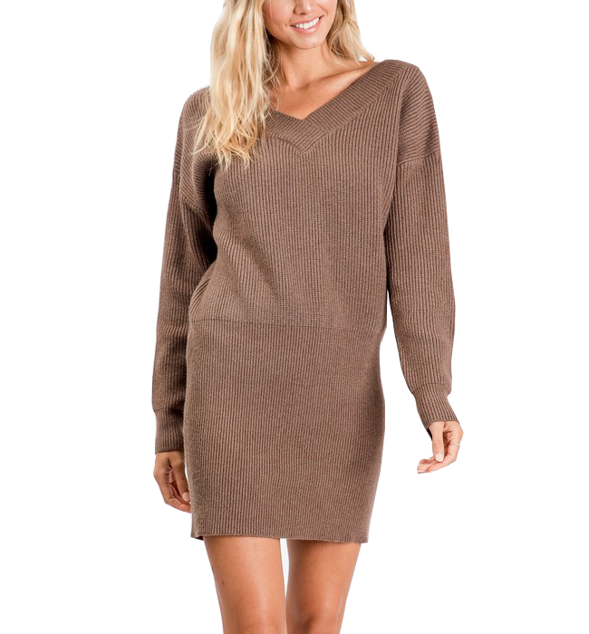 Long Sleeve Sweater Dress - Hudson Square Boutique