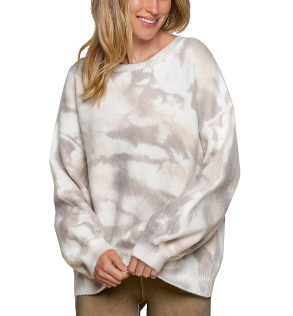 Light Neutral Tie Dye Sweater