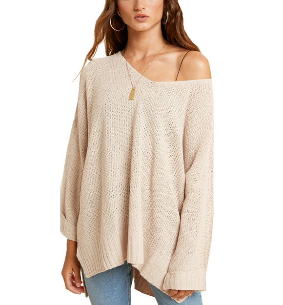 Relaxed Pullover in Eggshell
