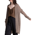 Cozy Wool Blend Knitted Open Cardigan