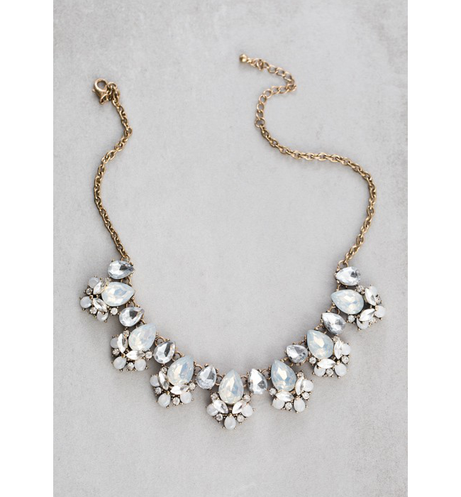 Antique Gold Crystal Necklace