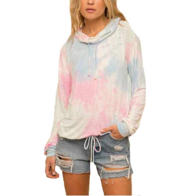 Cotton Candy Tie Dye Pullover - Hudson Square Boutique