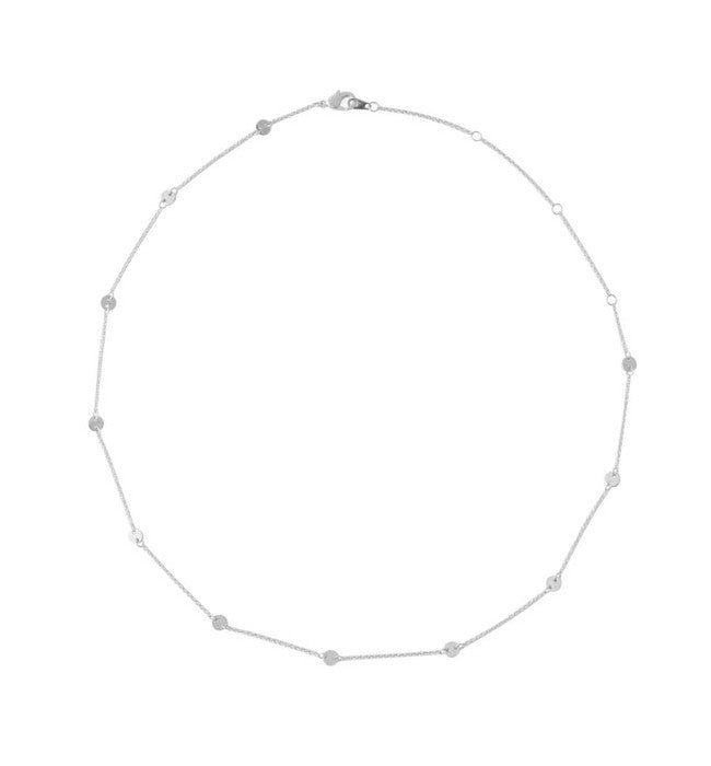 Dainty Circle Disc Necklace