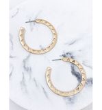 Cut Out Triangle Hoops - Hudson Square Boutique