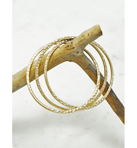 Gold Bangles - Hudson Square Boutique