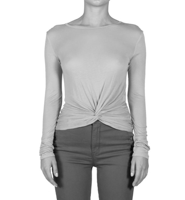Premium Long Sleeve Top with Twist Front